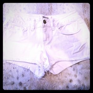 Victoria's Secret Pink White Frayed Shorts